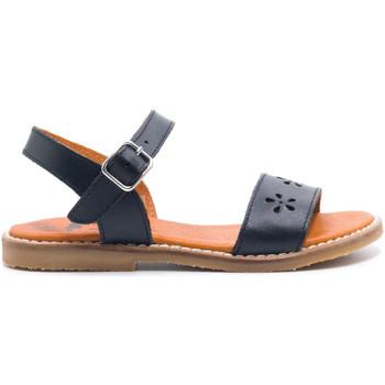 Chaussures Fille Sandales et Nu-pieds Boni & Sidonie Sandales en cuir à boucles - JACINTHE Bleu Marine