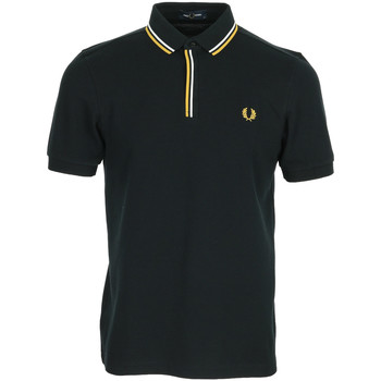 Vêtements Homme Polos manches courtes Fred Perry Tipped Placket Polo Shirt noir