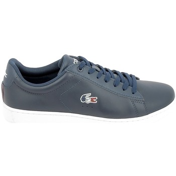 Chaussures Homme Baskets basses Lacoste Carnaby Evo Bleu Rouge Bleu