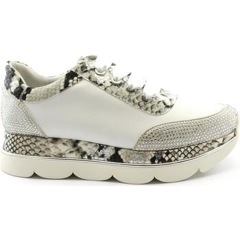 Chaussures Femme Baskets basses Café Noir CAF-E20-DB178-BI Bianco