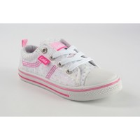 Chaussures Fille Baskets basses Lois Toile fille  60032 Ice Blanc