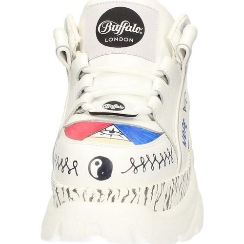 BFL1339-14G  Buffalo  baskets basses  femme  blanc