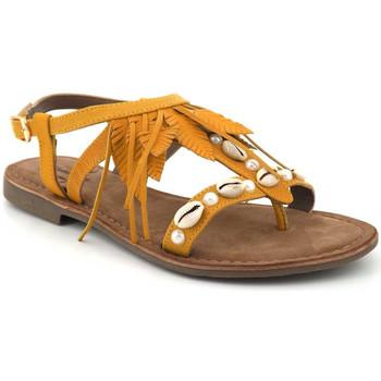 Chaussures Femme Sandales et Nu-pieds Elue par nous Gaiete jaune