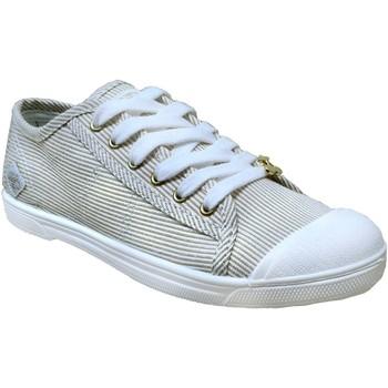 Chaussures Femme Baskets basses Le Temps des Cerises Basic 02 strip Blanc/jaune