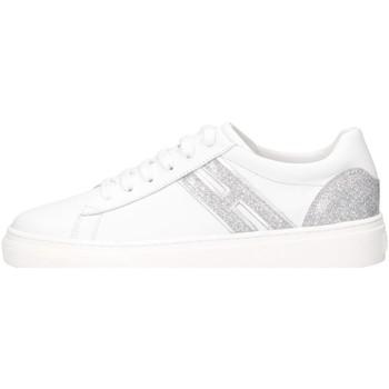 Chaussures Fille Baskets basses Hogan HXC3400K390NME0351 Basket Enfant blanc blanc