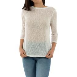 Vêtements Femme T-shirts manches longues Only bordeaux cloud dancer blanc