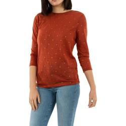 Vêtements Femme T-shirts manches longues Only bordeaux hot sauce rouge