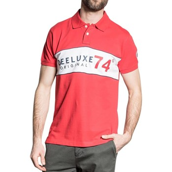 Vêtements Homme Polos manches courtes Deeluxe Polo SQUADS Tomato