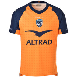 Vêtements Homme T-shirts manches courtes Kappa KOMBAT MONTPELLIER HÉRAULT THIRD 19/20 Orange
