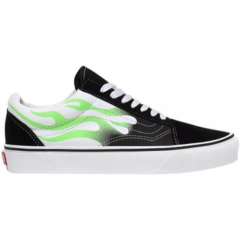 Chaussures Baskets basses Vans Old Skool Flames Skate Blanc,Noir,Vert
