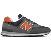 Chaussures Homme Baskets basses New Balance 574 Gris, Orange