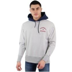 Vêtements Homme Sweats Tommy Jeans Sweat à capuche Tommy Hilfiger ref_47990 Gris Gris