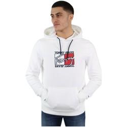 Vêtements Homme Sweats Tommy Jeans Sweat à capuche Tommy Hilfiger ref_48173 Blanc Blanc
