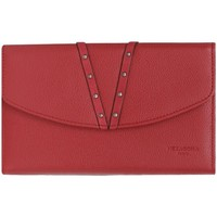 Sacs Femme Portefeuilles Hexagona Compagnon  cuir ref48639 Rouge 19*12*4 Rouge