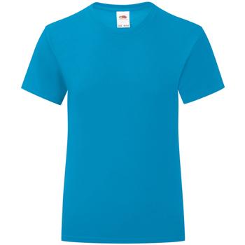Vêtements Fille T-shirts manches courtes Fruit Of The Loom 61025 Bleu azur