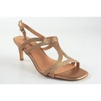 Chaussures Femme Sandales et Nu-pieds Bienve Cérémonie Lady  1SL-0108 Saumon Argenté