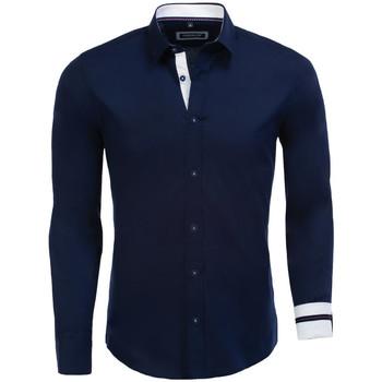 Vêtements Homme Chemises manches longues Carisma Chemise fashion pour homme Chemise 8441 bleu Bleu