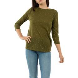 Vêtements Femme T-shirts manches longues Only bordeaux martini olive vert