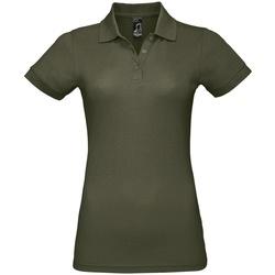 Vêtements Femme Polos manches courtes Sols Prime Vert kaki