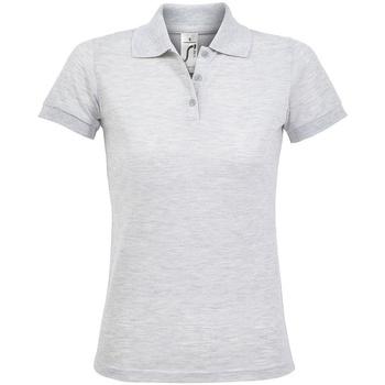Vêtements Femme Polos manches courtes Sols Prime Gris clair chiné