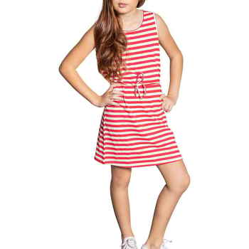 Vêtements Fille Robes courtes Deeluxe Robe STRIPSTIME Red Stripes