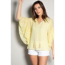 Vêtements Femme Tops / Blouses Deeluxe Blouse VIVIANA Sweet Yellow