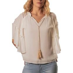 Vêtements Femme Tops / Blouses Deeluxe Blouse VIVIANA Off White