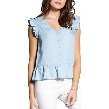 Vêtements Femme Tops / Blouses Deeluxe Blouse NELLY Denim Bleach