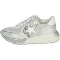 Chaussures Fille Baskets basses Asso AG-5502 Sneakers Fille Argent Argent