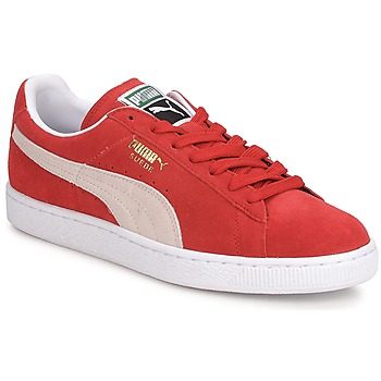 Chaussures Homme Baskets basses Puma SUEDE CLASSIC + Rouge / Blanc
