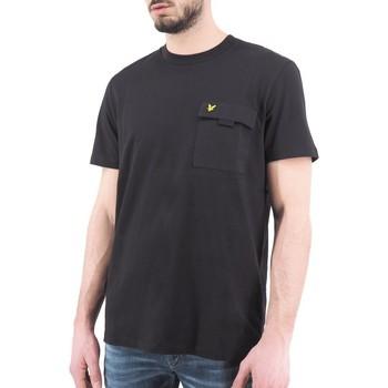 Vêtements Homme T-shirts manches courtes Lyle & Scott Lyle  Scott  T-shirt a poche poitrine noir  LYSTS1236V Noir
