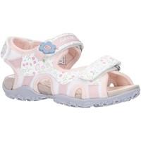 Chaussures Fille Sandales sport Geox J92D9C 01404 J S ROXANNE Blanco