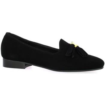 Chaussures Femme Mocassins So Send Mocassins cuir velours Noir