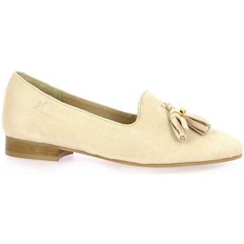 Chaussures Femme Mocassins So Send Mocassins cuir velours  nude Nude