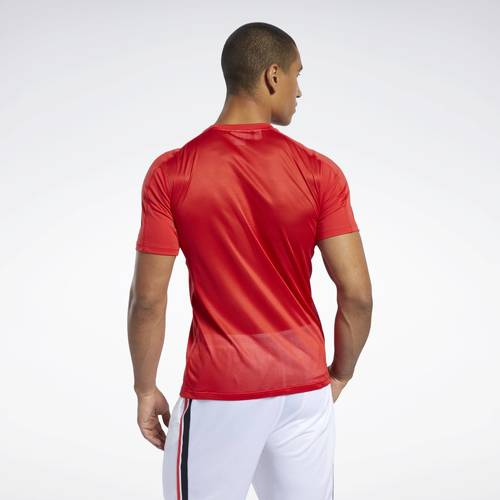 T-shirt technique en polyester Workout Ready  Reebok Sport  t-shirts & polos  homme  red