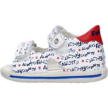 Chaussures Garçon Chaussures aquatiques Falcotto - Sandalo bianco/blu ARIEL-1N07 BIANCO