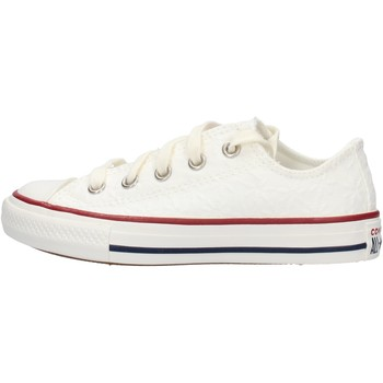 Chaussures Garçon Baskets mode Converse - Ctas ox bianco pizzo 668031C BIANCO