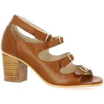 Chaussures Femme Sandales et Nu-pieds Impact Nu pieds cuir Cognac