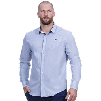 Vêtements Homme Chemises manches longues Ruckfield Chemise bleu rugby élégance Bleu
