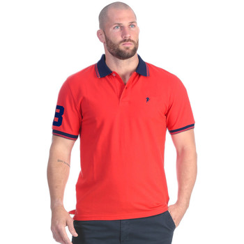 Vêtements Homme Polos manches courtes Ruckfield Polo essentiel rouge Rouge