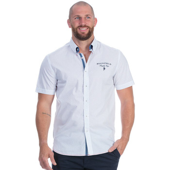 Vêtements Homme Chemises manches courtes Ruckfield Chemise blanche rugby cup Blanc
