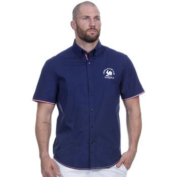 Vêtements Homme Chemises manches courtes Ruckfield Chemise french marine Bleu