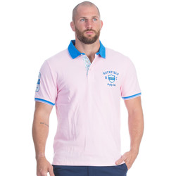 Vêtements Homme Polos manches courtes Ruckfield Polo rose rugby flowers Rose