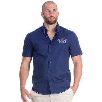 Vêtements Homme Chemises manches courtes Ruckfield Chemise bleu marine maison de rugby Bleu