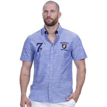 Vêtements Homme Chemises manches courtes Ruckfield Chemise rugby seven bleu Bleu