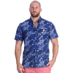 Vêtements Homme Chemises manches courtes Ruckfield Chemise rugby seven bleu marine Bleu