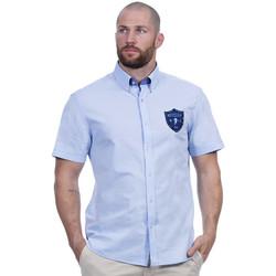 Vêtements Homme Chemises manches courtes Ruckfield Chemise bleu ciel we are rugby Bleu