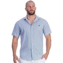 Vêtements Homme Chemises manches courtes Ruckfield Chemise bleu rugby élégance Bleu