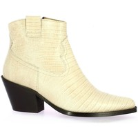 Chaussures Femme Boots Exit Boots cuir serpent Beige