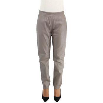 Vêtements Femme Pantalons Oakwood Pantalon  Gifter en cuir ref_48708 Mastic Beige